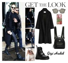 """""""Gigi Hadid Leaving Her Hotel In Paris, France April.05.2017"""" by valenlss ❤ liked on Polyvore featuring Baldwin, Christian Dior, Dr. Martens and Gucci"""
