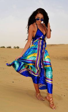 Colorful Dress Beach Style