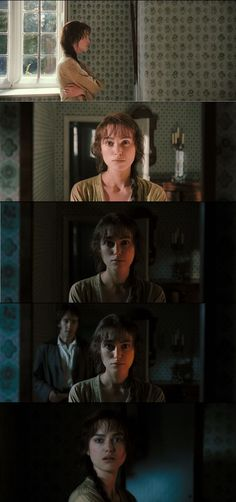 Pride and Prejudice 2005 After Darcy's declaration of love, she gets his letter explaining his true nature and Mr. Again Joe Right takes poetic license with these face shots showing Elizabeth's inner turmoil: her prejudice sets her Darcy And Elizabeth, Elizabeth Bennet, Elizabeth Gaskell, Charlotte Bronte, Jane Austen Movies, Pride And Prejudice 2005, Becoming Jane, Matthew Macfadyen, Mr Darcy