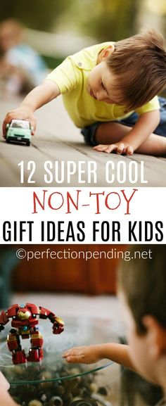 We can often feel like we are drowning in toys, and overwhelmed with clutter in our house. Parents often feel the need to get organized. So, what's the solution? This list of non-toy gift ideas for kids is the perfect alternative when grandparents ask what to get your kids for Christmas or birthdays. #giftideas #nontoygifts #giftsforkids #kidideas #gifts