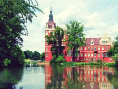 Bad Muskau (Sachsen), Germany. Bad Muskau is a spa town in the historic Upper Lusatia region in Germany at the border with Poland. It is part of the Görlitz district in the State of Saxony.