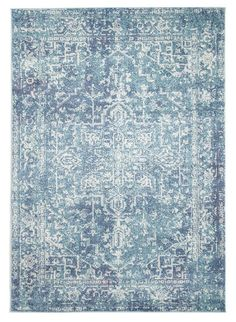 Purchased for New house Bedroom. Evoke 253 Washed Blue Rug - Rugs Express | Online Rug Store Australia