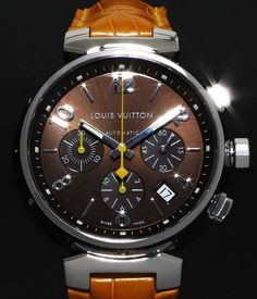 LOUIS VUITTON TAMBOUR CHRONOGRAPH.