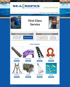 Sea Ropes Website Design