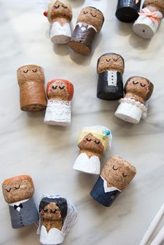 Oh hey, cute little bubbly people! Learn how to paint champagne corks to easily make your own wedding cake topper or special keepsake from your wedding day! Cork Wedding, Wedding Gifts, Wedding Day, Wedding People, Wedding Vows, Wedding Dresses, Make Your Own Wedding Cakes, Diy Cake Topper, Champagne Corks