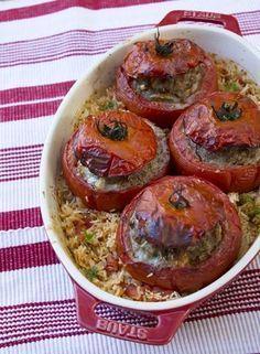 Tomates farcies à l'ancienne - Lady Coquillette - Recettes de cuisine gourmandes et créatives