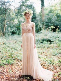 25 Best Colored Wedding Dresses for the Fine Art Bride | Wedding Sparrow