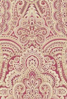 Metallic Pink Paisley Wallpaper