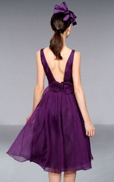 Melissa Sweet style MS405 <3 the flowers on this low back dress