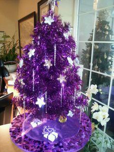 purple christmas tree what fun - Purple Christmas Tree Lights