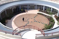 Labyrinth at Marianjoy Rehabilitation Hospital in Wheaton,Illinois Cosmos, Labyrinth Maze, Spiritual Formation, Ancient Symbols, Thinking Outside The Box, Art For Art Sake, Pathways, Meditation, Spirituality
