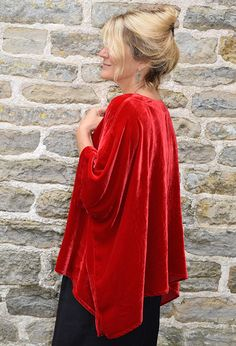 Santanyi Top, red silk velvet, £215. Other colours available.