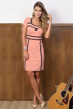 Vestido Atenas da Cassia Segeti.✓Troca Grátis. ✓ Melhores marcas de moda evangélica. ✓ Até 3x sem Juros