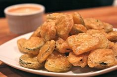 Fried kosher dill pickles make a unique appetizer.