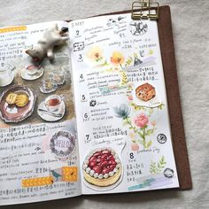 a lovely journal! Sketch Menu, Food Sketch, Sketch Journal, Journal Pages, Journals, Notebooks, Watercolor Food, Watercolor Journal, Homemade Recipe Books