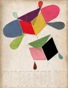 Portfolio magazine cover, 1950. 'Design for a kite' by Charles Eames