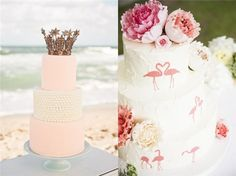 A Beach Wedding For Summer beach wedding cakes