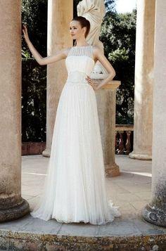 Precioso vestido de novia.