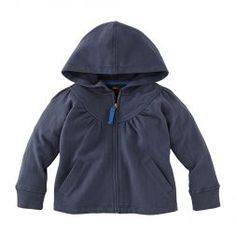 Solid Zippered Hoodie For Little Girls | Tea Collection: i like the little set it makes, she'd wear it though.