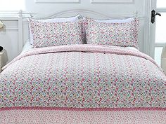 Little Pink Flower Girls Zipper Duvet Cover Bedding Sets, Double Size (200*200cm) HST http://www.amazon.co.uk/dp/B01CHDPH00/ref=cm_sw_r_pi_dp_wlA.wb0EYZF1R