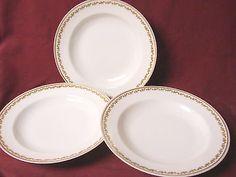 Haviland Co, China Dinnerware Limoges, Sonderburg, Set 3 Rim Soup/pasta bowl