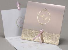 Faire part mariage « Délicatesse Wedding Cards Handmade, Diy Wedding, Wedding Day, Pink And Gold Wedding, Glitter Wedding, Wedding White, Purple Wedding Invitations, Wedding Stationary, Business Invitation