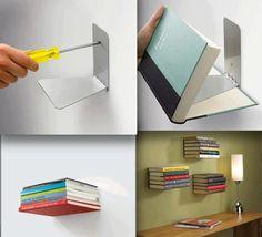 Lovely Idea! Invisible bookshelf