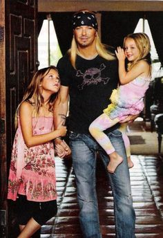 Brett Michaels and his girls