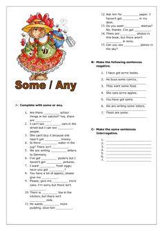 some any elementary worksheet - Поиск в Google