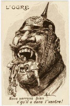 L'Ogre : nous verrons bien c'qu'il a dans l'ventre! :: World War I Postcards from the Bowman Gray Collection