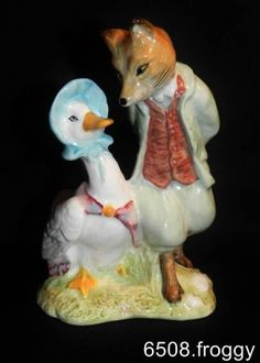 BEATRIX POTTER-R/A - Jemima Puddleduck with Foxy Whiskered Gentleman BP6a Mint