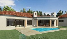 3 Bedroom House Plans South Africa | House Designs | NethouseplansNethouseplans House Plans For Sale, Free House Plans, House Plans With Photos, Simple House Plans, Beautiful House Plans, Garage House Plans, House Plans One Story, Three Bedroom House Plan, Bedroom House Plans