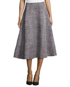 Tweed Bias Circle Midi Skirt by Michael Kors at Neiman Marcus.