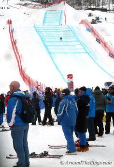 Ski cross finishing jump. Add Around The Rings on www.Twitter.com/AroundTheRings & www.Facebook.com/AroundTheRings for the latest info on the #Olympics.