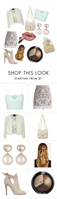 """ Scream Queens"" by xodemiarianajustinxo ❤ liked on Polyvore featuring Topshop, Chicwish, Dorothy Perkins, Chloé, Samira 13, Natasha Accessories, Jimmy Choo and Marc by Marc Jacobs"
