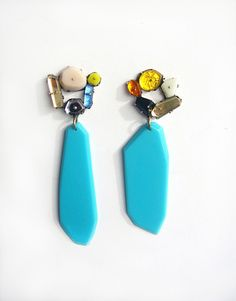 E1 Couppee, Nikki jewels on post with large blue drops.jpg