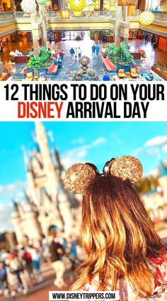 12 Things to do on Your Disney Arrival Day | Epic Things to do on Your Disney Arrival Day | Amazing Things to do on Your Disney Arrival Day | Best Things to do on Your Disney Arrival Day | what to do the day you arrive at disney world | disney arrival day tips | what to avoid on your disney arrival day | tips for getting to disney world | disney travel tips | disney vacation planning tips #disney #disneyworld Disney World Vacation Planning, Packing Tips For Vacation, Disney Planning, Disney World Trip, Disney World Resorts, Disney Vacations, Disney Trips, Vacation Destinations, Disney Travel