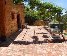 Recycled bricks and vintage brick veneer tiles