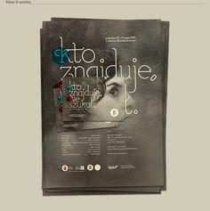 """Kto znajduje, źle szukał"" Poster and Flyer by Redkroft , via Behance"