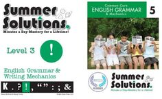 These books review language skills including the parts of speech, punctuation, capitalization, and spelling rules appropriate to the grade level.  Both Common Core and Original Series are available for grades K-8.