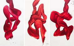 """""""Single Stroke"""" Paintings by James Nares  http://www.jamesnares.com/"""