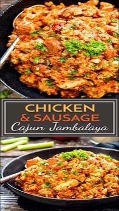 Recipes Gluten Free Sausage & Chicken Cajun Jambalaya has all of the flavors of an authentic jambalaya recipe. This sausage jambalaya comes together easily in one pot, is gluten-free and dairy-free for a simple and healthier Cajun dinner recipe. Cajun Recipes, Easy Chicken Recipes, Easy Healthy Recipes, Seafood Recipes, Easy Meals, Recipe Chicken, Haitian Recipes, Louisiana Recipes, Donut Recipes