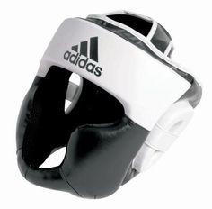 Adidas RESPONSE Head Guard Black/White - Martial Arts Equipment, Martial Arts Supplies, Boxing, Kung Fu, Karate, MMA, Kickboxing