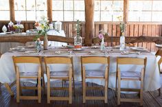 western ranch wedding: I like the non-fancy bottles and minimalist table settings. Looks low-effort and nice!