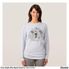 Free Style F62 Women's Basic Long Sleeve T-Shirt (Color: Ash)   #design #fashion #freestyle #women #longsleeve #tshirt