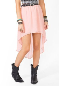 FOREVER 21 High-Low Chiffon Skirt sur shopstyle.fr