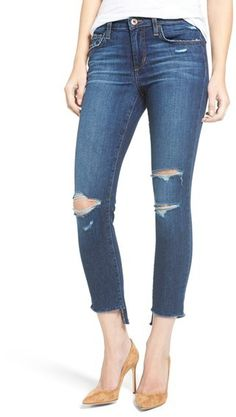 Perfectly distressed - Joe's Icon Ripped Step Hem Crop Skinny Jeans