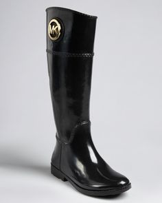 MICHAEL Michael Kors Rain Boots - Fulton Tall Logo Good weatherproof alternative :)