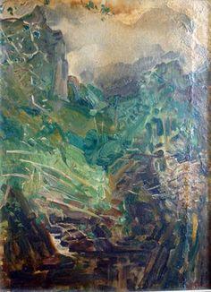 Rivière dans la montagne  60x44
