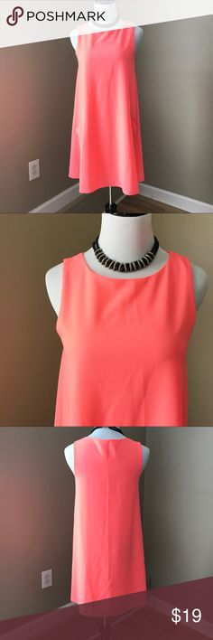 """Everly Bright Pink Loose Fit Pocket Dress 100% polyester. Neon Pink. Hangs beautifully. 34"""" bust. 33"""" long. Great condition. Size Small. Everly Dresses"""